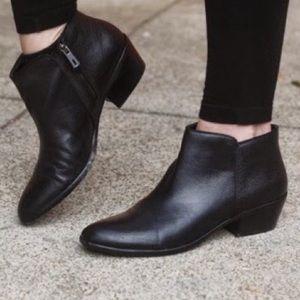 Sam Edelman Petty black leather ankle boots